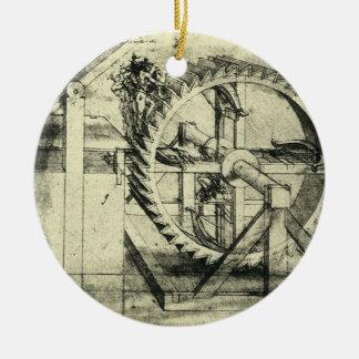 Ornement Rond En Céramique Arbalète actionnée par tapis roulant par Leonardo