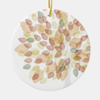 Ornement Rond En Céramique Arbre de bouleau dans des couleurs d'automne