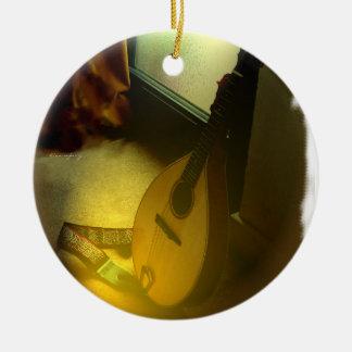 Ornement Rond En Céramique Arbre de mandoline