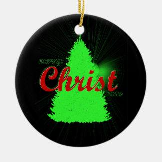 Ornement Rond En Céramique Arbre de vert d'ornement d'arbre de Noël