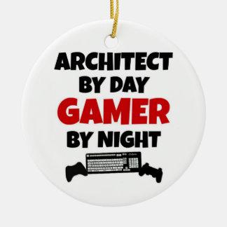 Ornement Rond En Céramique Architecte par le Gamer de jour par nuit