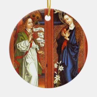 Ornement Rond En Céramique Arkhangel Gabriel - annonce - Schongauer