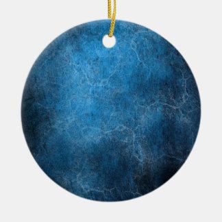 Ornement Rond En Céramique Arrière - plan bleu et noir