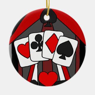 Ornement Rond En Céramique Art abstrait artistique de cartes de jeu