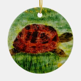 Ornement Rond En Céramique Art d'animal de tortue