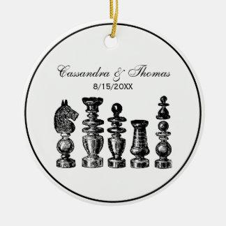 Ornement Rond En Céramique Art de cru de pièces d'échecs