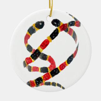Ornement Rond En Céramique Art de serpent de corail