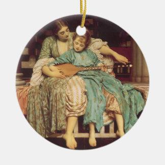 Ornement Rond En Céramique Art victorien vintage, leçon de musique par
