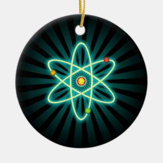 Ornement Rond En Céramique Atome