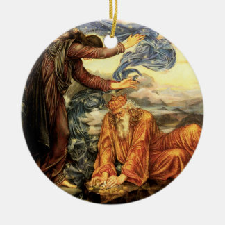 Ornement Rond En Céramique Attaché à la terre par Evelyn De Morgan