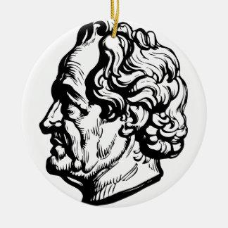 Ornement Rond En Céramique Auteur allemand Goethe