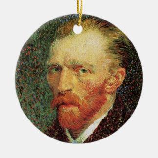 Ornement Rond En Céramique Autoportrait de Van Gogh