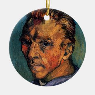 Ornement Rond En Céramique Autoportrait de Vincent van Gogh sans barbe