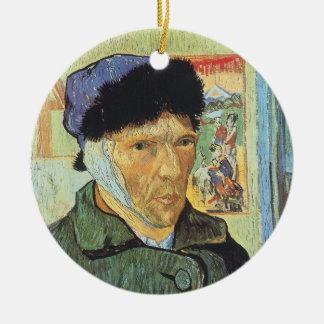 Ornement Rond En Céramique Autoportrait, oreille bandée par Vincent van Gogh
