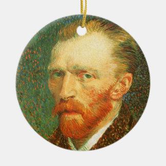 Ornement Rond En Céramique Autoportrait par Vincent van Gogh