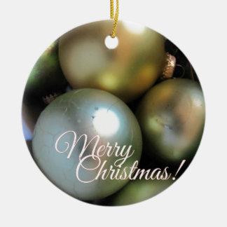 Ornement Rond En Céramique Babioles de Joyeux Noël