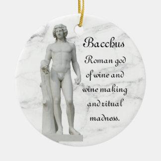 Ornement Rond En Céramique Bacchus 2