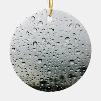 Ornement Rond En Céramique Baisses de pluie sur le pare-brise en Californie
