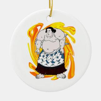 Ornement Rond En Céramique Balayeuse de sumo