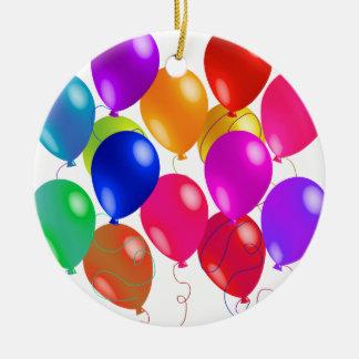 Ornement Rond En Céramique Ballons de partie dans un arc-en-ciel de couleurs