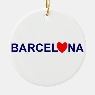 Ornement Rond En Céramique Barcelona love