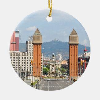 Ornement Rond En Céramique Barcelone