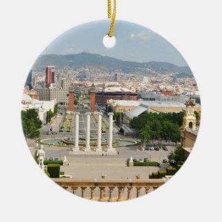 Ornement Rond En Céramique Barcelone, Espagne