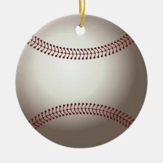 Ornement Rond En Céramique Base-ball