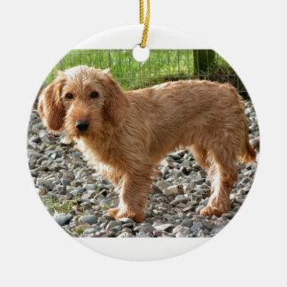 Ornement Rond En Céramique Basset Fauve de la Bretagne Dog