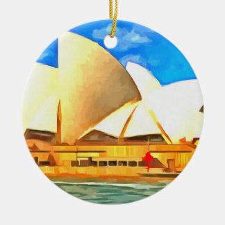 Ornement Rond En Céramique Beau théatre de l'opéra de Sydney