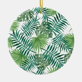Ornement Rond En Céramique beau vert de regards de riches de style de mode de