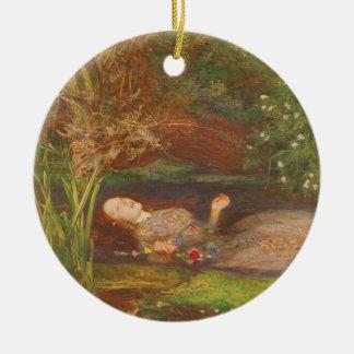 Ornement Rond En Céramique Beaux-arts victoriens vintages, Ophélie par