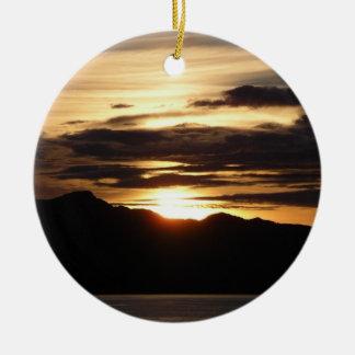 Ornement Rond En Céramique Belle Alaska photographie du coucher du soleil III