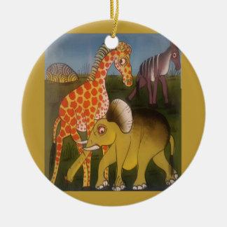 Ornement Rond En Céramique Belle couleur africaine extraordinaire de safari