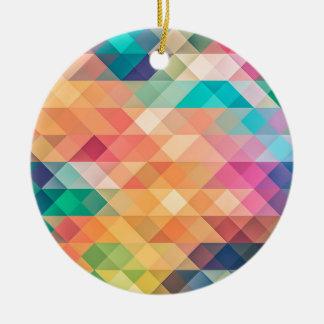 Ornement Rond En Céramique belles couleurs de regards de riches de style de