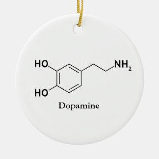 Ornement Rond En Céramique Biochimie de chimie de molécule de dopamine
