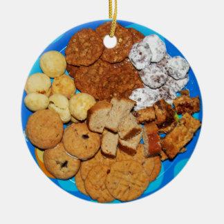 Ornement Rond En Céramique Biscuits de Noël