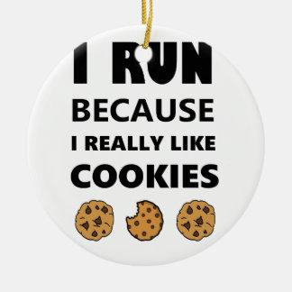 Ornement Rond En Céramique Biscuits pour la santé, fonctionnement de course