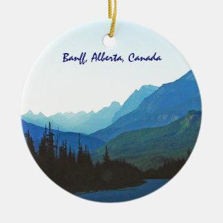 Ornement Rond En Céramique Bleu de jaspe de Banff