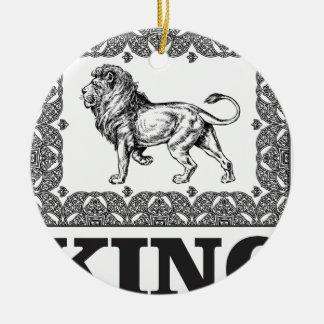 Ornement Rond En Céramique boîte de lion de roi