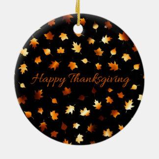 Ornement Rond En Céramique Bon thanksgiving
