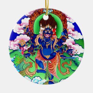 Ornement Rond En Céramique Bouddhisme tibétain Thangka bouddhiste Ucchusma