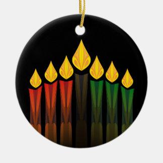 Ornement Rond En Céramique bougies de Kwanzaa