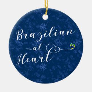 Ornement Rond En Céramique Brésilien à l'ornement d'arbre de vacances de