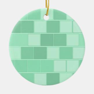 Ornement Rond En Céramique Briques bleu vert