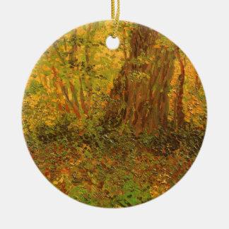Ornement Rond En Céramique Broussaille par Vincent van Gogh, beaux-arts