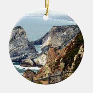 Ornement Rond En Céramique Cabo DA Roca, Portugal