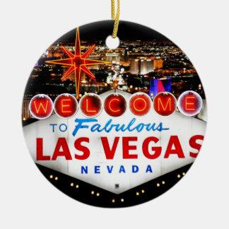 Ornement Rond En Céramique Cadeaux de Las Vegas
