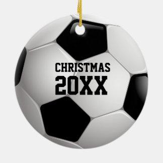 Ornement Rond En Céramique Cadeaux de sport de Noël 20XX   Personalizable du