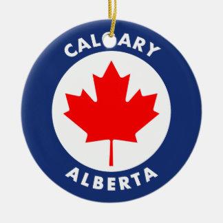 Ornement Rond En Céramique Calgary, Alberta